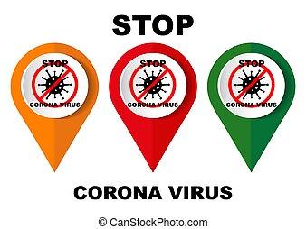 Coronavirus 2019-nCoV. Corona virus icon.. No Infection and Stop Coronavirus Concepts. Vector illustration.