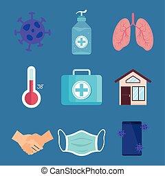 coronavirus 2019 ncov infographic with icons