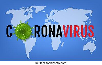 Coronavirus 2019 nCov Poster Grey Background