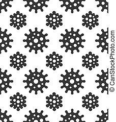 coronavirus, achtergrond., seamless, model, witte , vector