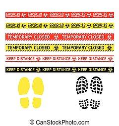 coronavirus, avertissement, type, signes, quarantaine