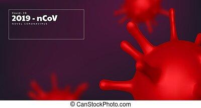Coronavirus background, virus strain of MERS-Cov
