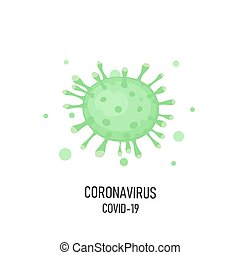 Coronavirus Bacteria Cell Icon, 2019-nCoV.