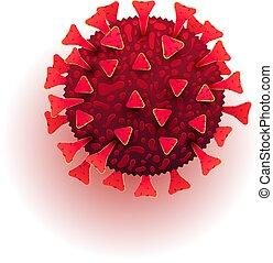coronavirus, bacterias, ser, novela, molécula, fondo., o, ...