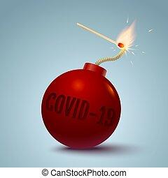 coronavirus, bombe