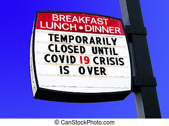 coronavirus, cenar, -19, restaurante, empresa / negocio, alimento, cuarentena, covid, cerrado