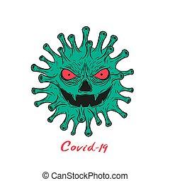 covid-19 - Coronavirus character vector illustration for ...