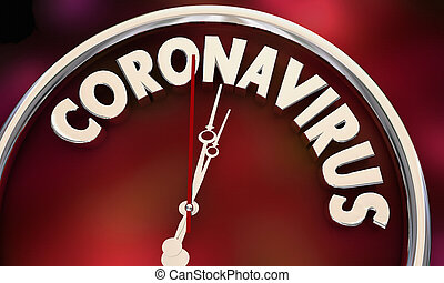 Coronavirus Clock Time Running Out COVID-19 Outbreak Pandemic 3d Illustration