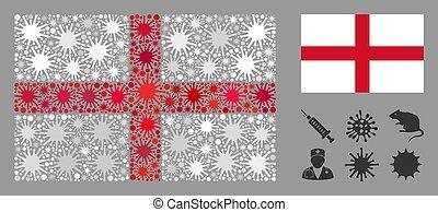 Coronavirus Collage England Flag