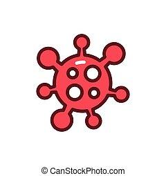 Coronavirus color line icon. Vector illustration