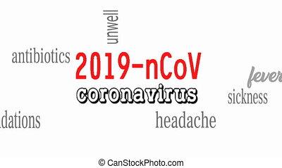 coronavirus., concept., chinois, ncov, wuhan, dangereux, ...