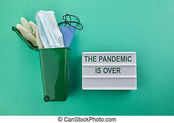 coronavirus, concept., quarantine., fin, parada, coronavirus., pandemia