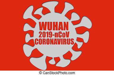 coronavirus, concepto, wuhan, 2019-ncov