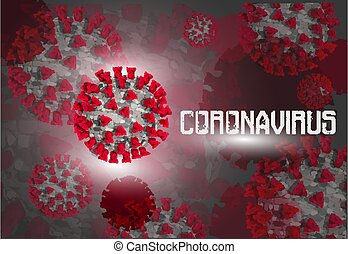 Coronavirus Covid-19 blood background. vector illustration