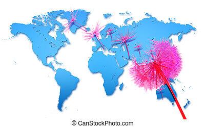 coronavirus covid-19 covid-2019 spread domino word map - ...