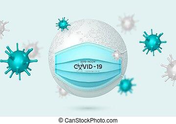 Coronavirus, Covid-19 dangerous virus concept.