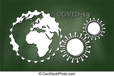 coronavirus, (covid-19), enfermedad, 2019