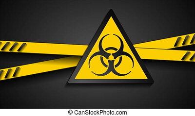 Coronavirus COVID-19 quarantine abstract video animation