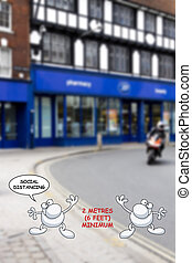 Coronavirus COVID 19 social distancing UK
