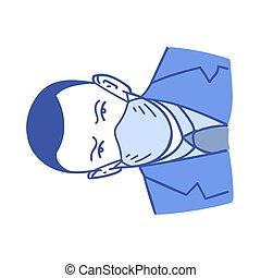 Coronavirus, covid-19, virus infection medical mask hand drawn style vector doodle design illustrations