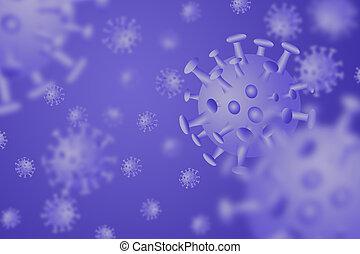 Coronavirus disease COVID-19 infection medical illustration,3D illustration