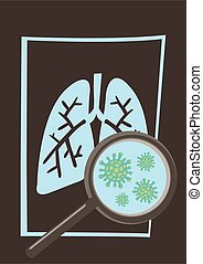 Coronavirus disease COVID-19 infection medical in lungs of X-rays.