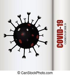 Coronavirus disease COVID-19 infection medical isolated. Vector illustration