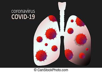 Coronavirus disease virus in human lungs. Novel coronavirus COVID-19 outbreak
