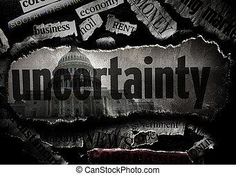 Coronavirus economy uncertainty news headlines and US Capitol
