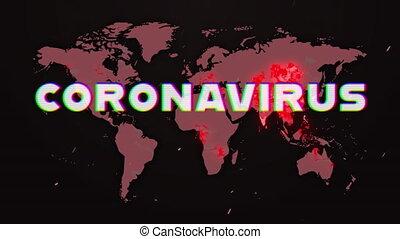 coronavirus, emplacement, planisphère