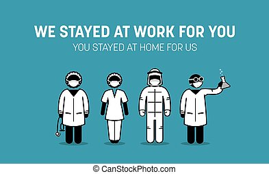 coronavirus, frontliners, 戦い, 医学, スタッフ, outbreak., 労働者, に対して...