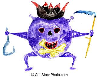 Coronavirus hand drawn - Cartoon coronavirus, spooky virus ...