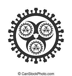 Coronavirus icon. 2019-nCoV virus icon.