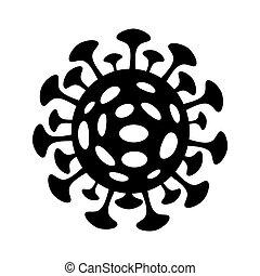 Coronavirus icon isoalted on white background. 2019-nCov ...