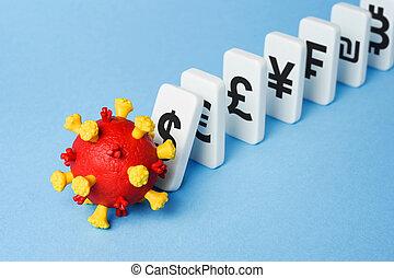 coronavirus, krise, veranlaßt, wirtschaftlich