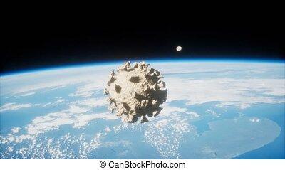 coronavirus, la terre, covid-19, astéroïde