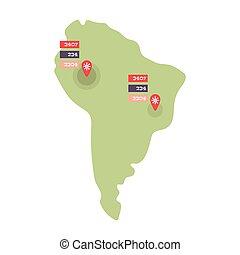 Coronavirus Map Illustration