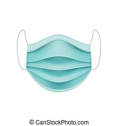 coronavirus, mask., concept., schützend, gesicht