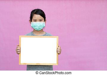 coronavirus, masque, monde médical, arrière-plan., ou, ...
