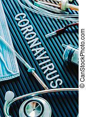 Coronavirus medical still life concept