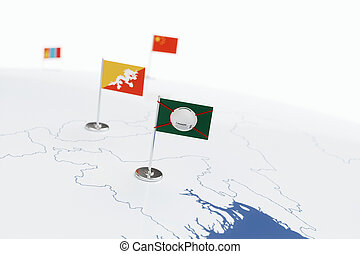 Coronavirus medical surgical face mask on the bangladeshi national flag
