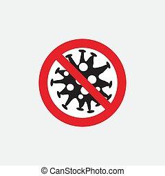 coronavirus., público, riesgo, enfermedad, parada, ...