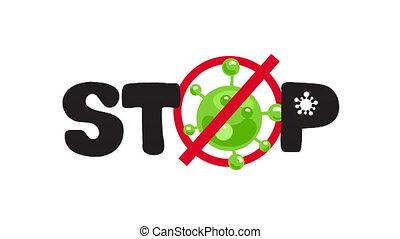 Coronavirus pandemic icon. Stop Covid-19 outbreak animation ...