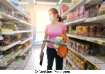 Coronavirus  pandemic panic buying concept