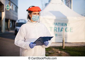 Coronavirus paramedic