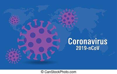 coronavirus, partículas, 2019, plano de fondo, ncov