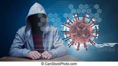coronavirus, pirata informático, covid19, durante, pandemia