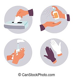 Coronavirus prevention measures and hygiene recommendations ...