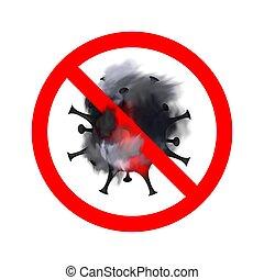 Coronavirus SARS-CoV-2 warning. Stop COVID-19 pandemic. ...
