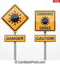 coronavirus, señales alerta, cuadrado